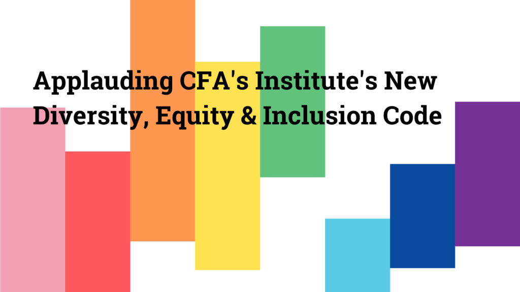 CFA Institute DEI code